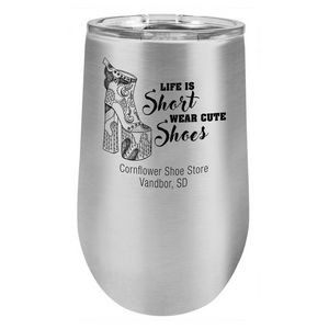 16 oz. Stainless Steel Wine Tumbler