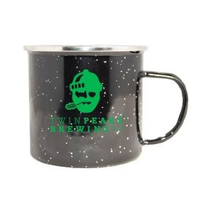 17 Oz. Camp Fire Stainless Steel Enamel Mug